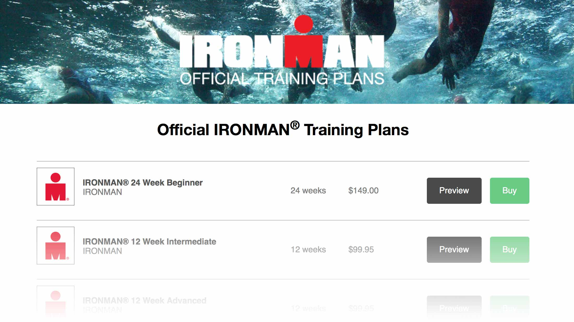 IRONMAN Training Plan Store